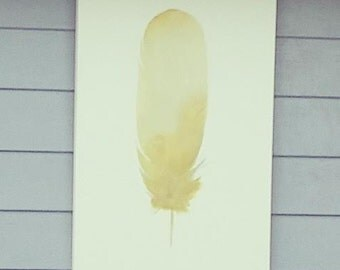 Yellow Feather Painting