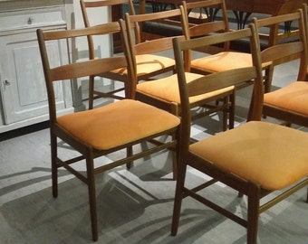 7 chairs Scandinavia Sweden 1960