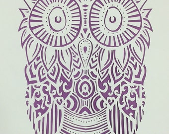 Owl Paper Cut