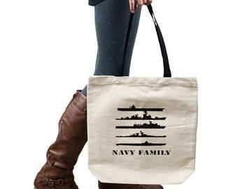 Navy Family Ships Military Tote Handbag Shoulder Bag Purse SP-00128