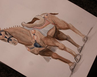War Horse Watercolor