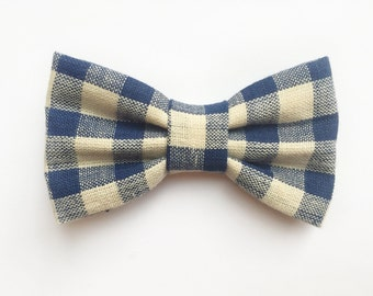BOW TIE Navy Plaid, baby boy, newborn photo prop, baby boy bow tie, baby gift