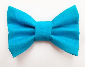 BIG Blue Bow, baby headband, baby hair clip, baby girl, girl toddler, hair bow, headband