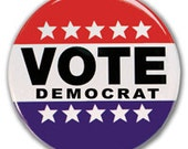 Vote Democrat 2-1/4 Inch Pinback Button