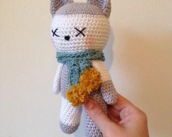 KITTY LOLA, handmade crochet doll, kids decor