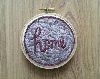 Home // Patchwork Style Embroidery Hoop - Small