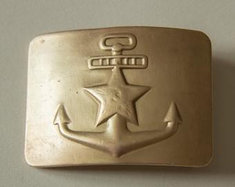 Vintage Soviet Navy sailor buckle 1950-s