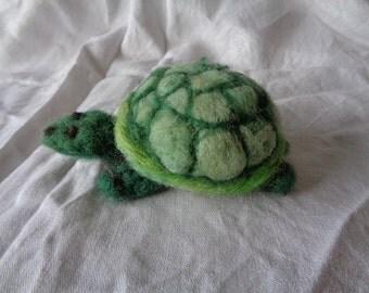 Felted Turtle, Needle Felted Turtle, OOAK