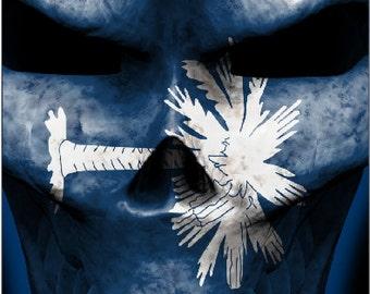 South Carolina Flag Skull Cornhole Wrap Bag Toss Decal Baggo Skin Sticker Wraps