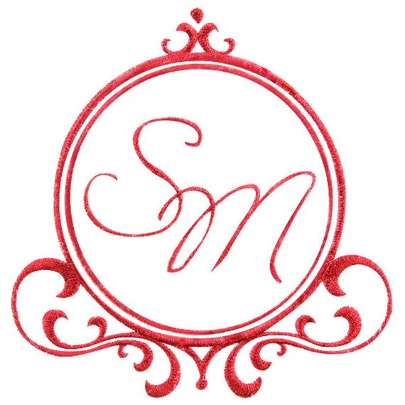 Mirror frame embroidery designs