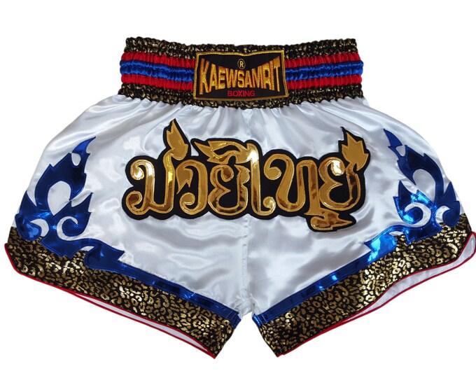 Original Muay Thai Boxing Shorts Martial Arts - White