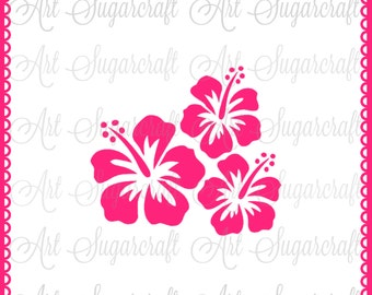 Hibiscus tropical flower Hawaiian Stencil for cookie decorating  ! cookie cupcake stencil !  Nb1588