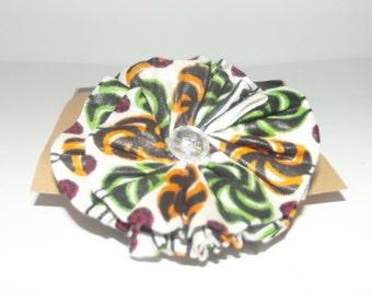 Ankara Rosette Flower Ring