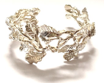 Leaf and Vine Cuff, Branch Cuff, Vine Cuff