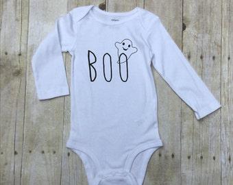 Halloween Baby Bodysuit-Longsleeve Baby Bodysuit Halloween-Boo Baby Body Suit-Infant Cotton Outfit-Trendy Infant Body Suit-Halloween Infant