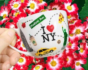 New York City Teacup & Saucer