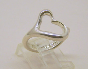 Elsa peretti tiffany & co sterling silver heart ring
