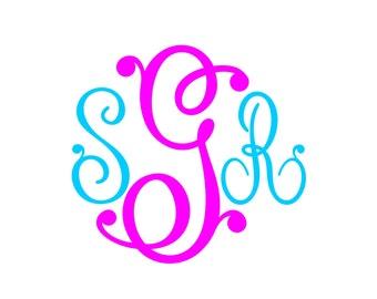Monogram SVG  Font No. 02