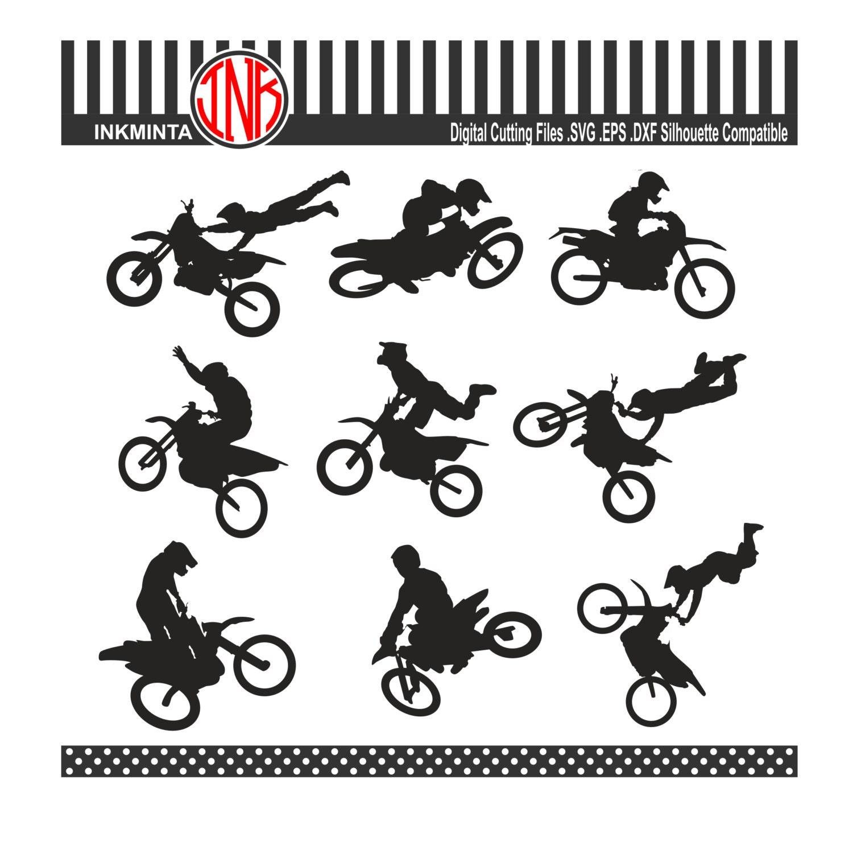 motocross svg files motocross silhouette svg instant