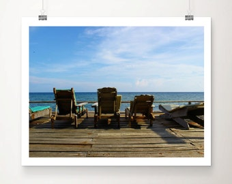"Sun lounge horizon - 16""x12"" Framed Print"