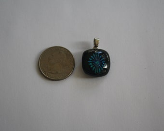 Pendant 16 - Blue Flower Glass Pendant