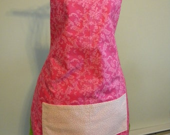 Reversible Apron - Pink & Green