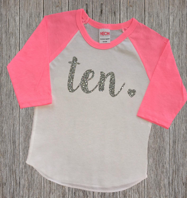 Ten Year Old Birthday Shirt Tenth Birthday By