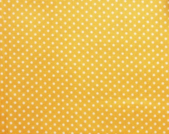Dot Fabric, Polka dot Fabric, Polka Dot Fabric, Yellow, Little Dots, Basic Essential, Cotton, Quilting Dressmaking Sewing, Wide, Half Metre