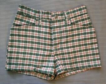 Maverick Plaid High-waisted Shorts