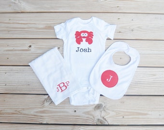Personalized Baby Crab Gift Set