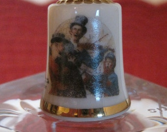 Collector Thimble, Norman Rockwell Thimble, 1982 Thimble, Gorham Thimble