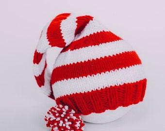 Knit Christmas Stocking Hat
