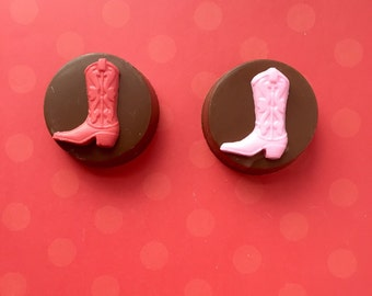 COWBOY or COWGIRL Chocolate Covered Oreos(12), WESTERN Party favor, Rodeo Party