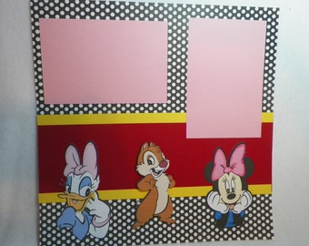 Handmade Scrapbook Page Premade 12 x 12 Scrapbook Page
