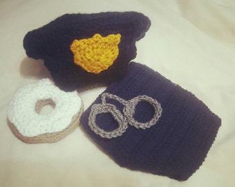 Newborn Police Officer Diaper Cover