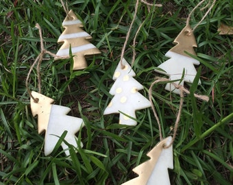 Primitive Christmas Tree Ornaments (Set of 5)