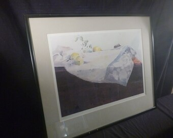 Framed and Matted Artist Print From Watercolorist Frank Sanford