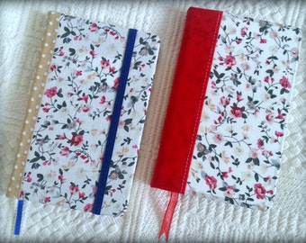 Floral Notebook/Vintage notebook - Handmade covered notebook/Journal/Diary/ Travel Journal