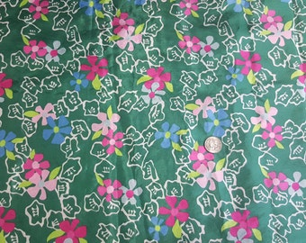 3 yards vintage polyester blouse or lining fabric