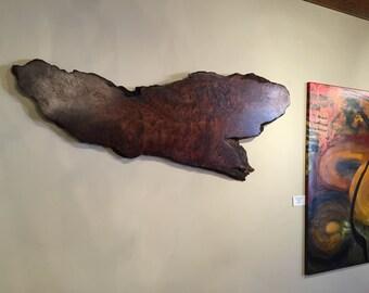 Hanging wood art