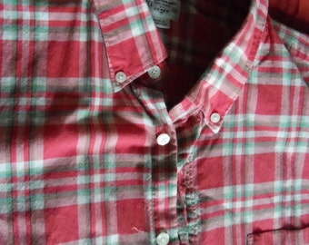 J Crew Summer Plaid Shirt XL