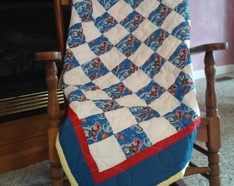 Baby, Toddler, or Youth Superman Baby Quilt