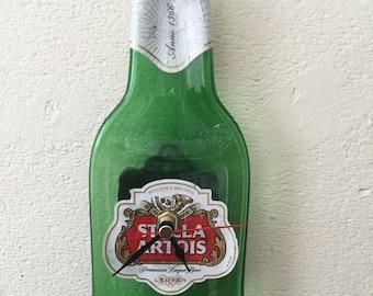 Stella Artois beer bottle clock