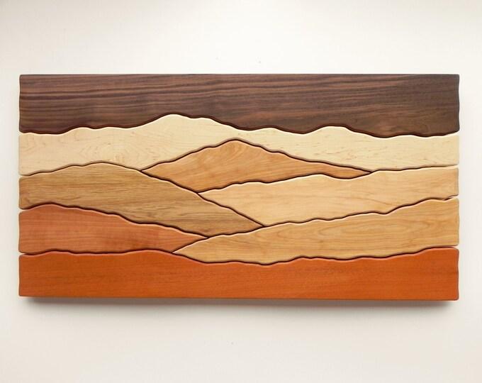 Mountain Wall Art, Wood Wall Decor, Night in the Mountains, Wood Wall Art, Modern Decor, Mountain art, Hiking Gift