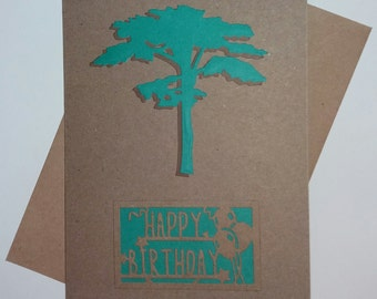 Woodland Theme Birthday Card