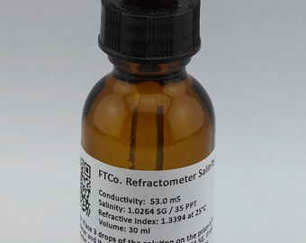 FTCo. Refractometer Salinity Calibration Fluid/Solution (30ml) - More than 200 tests