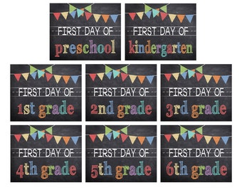 First Day of School Printables (set of 8)