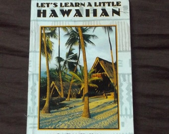 Vintage Let's Learn a Little Hawaiian Book with Free Shipping