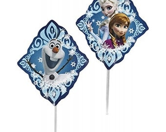 Disney Frozen Cupcake Toppers by Wilton, 24 Toppers per Package,  Perfect for Any Kids Party.