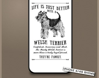 Welsh Terrier dog phone case cover iPhone Samsung ~ Can be Personalised
